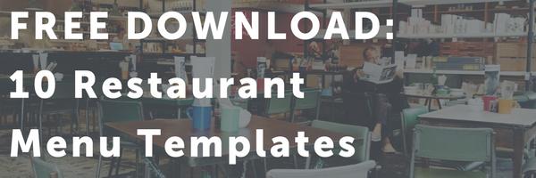 Email header | Menu Restaurant Templates